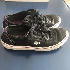 3/$30 Lacoste black and purple sneaker